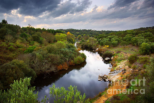 Atmosphere Photograph - Calm River by Carlos Caetano