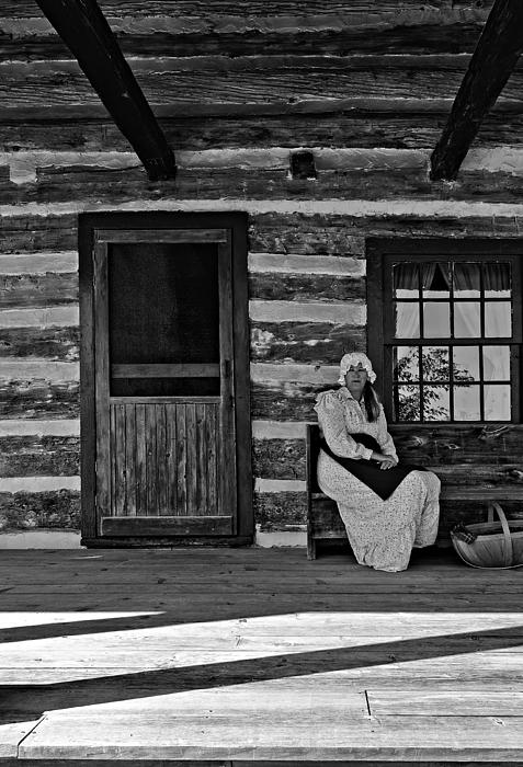 Grey Roots Museum & Archives Photograph - Canadian Gothic Monochrome by Steve Harrington