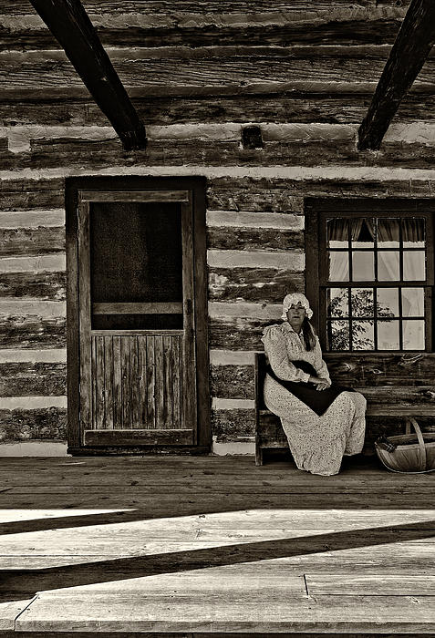 1800's Photograph - Canadian Gothic Sepia by Steve Harrington