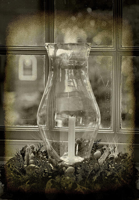 Decorative Photograph - Candle And Window by Steven Ainsworth