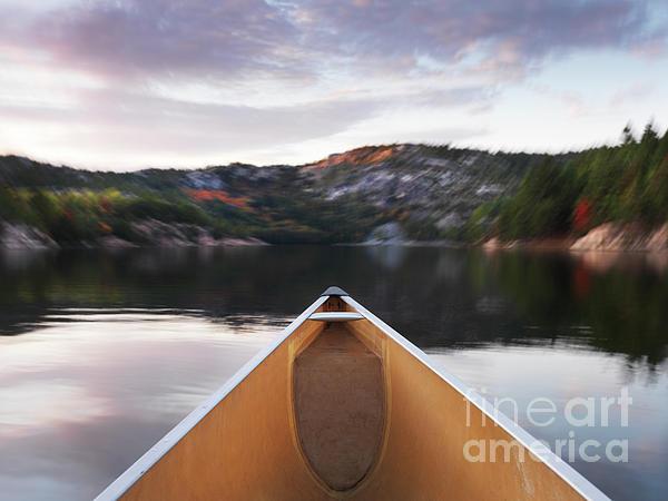 Canoe Photograph - Canoeing In Ontario Provincial Park by Oleksiy Maksymenko