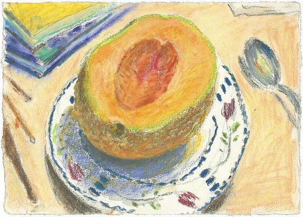 Fruit Painting - Canteloupe by Scott Bennett