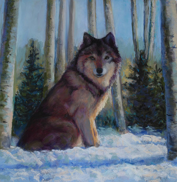 Wolf Painting - Captured By The Light by Billie Colson