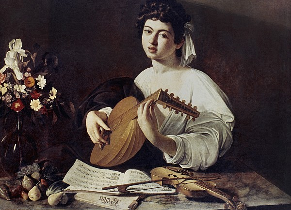 1594 Photograph - Caravaggio: Luteplayer by Granger