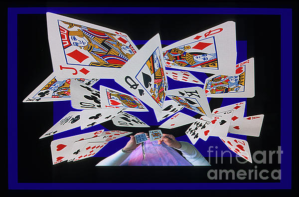 Cards Photograph - Card Tricks by Bob Christopher