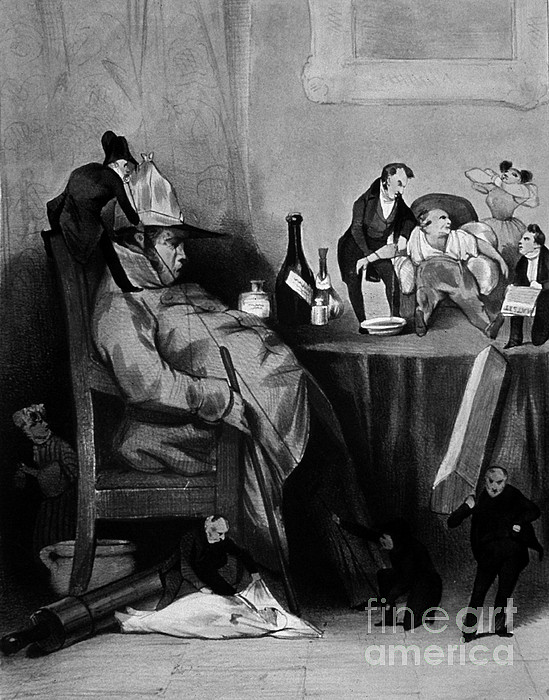 History Photograph - Caricature Of Hypochondriac, 1833 by Science Source