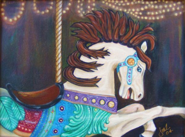 Merry-go-round Painting - Carousel by Jean LeBaron