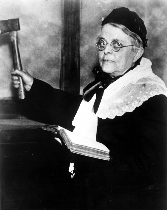 Axe Photograph - Carrie Nation, Circa 1900 by Everett