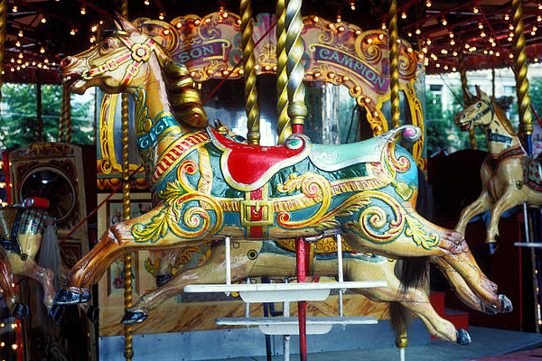 Carrousel Photograph - Carrouse Horse Paris France by Garry Gay