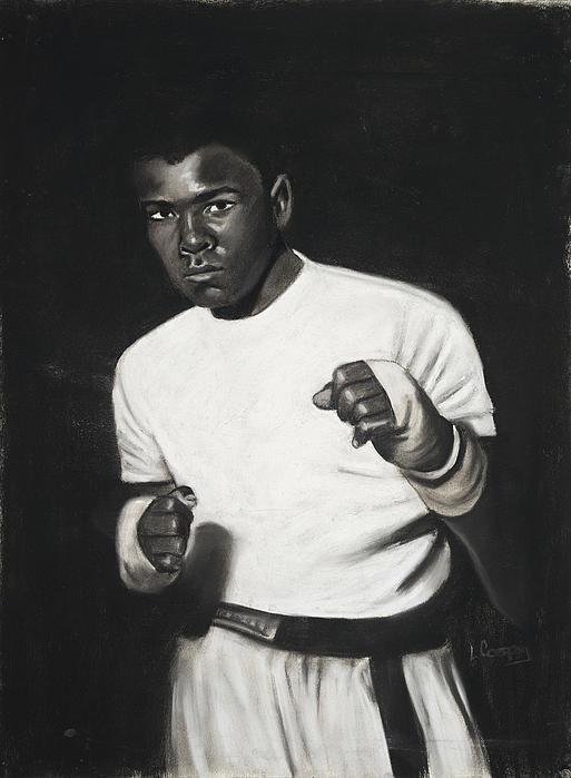 L Cooper Pastel - Cassius Clay by L Cooper