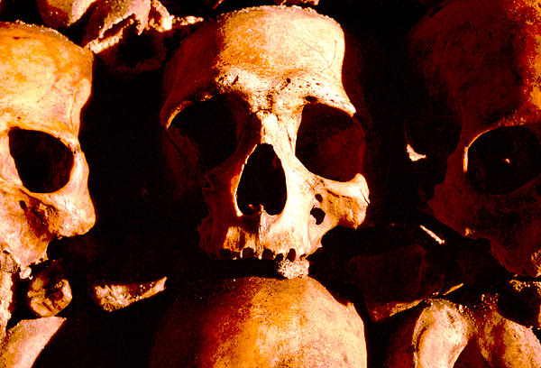 Skull Photograph - Catacombs In Paris by Julie VanDore