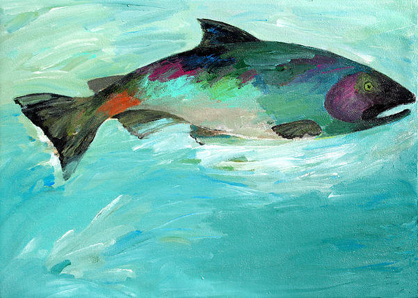 Water Painting - Catch 2 by Lisa Baack