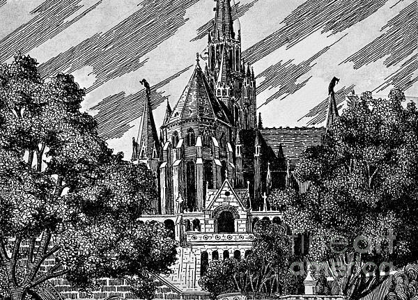 Architecture Drawing - Cathedral by Odon Czintos