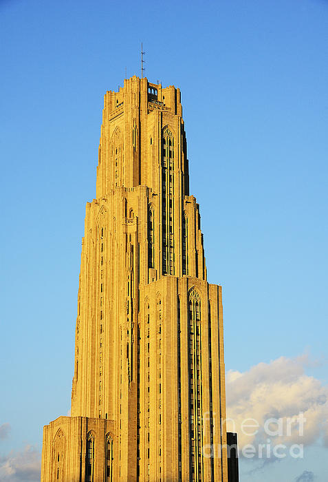 Cathedral Of Learning Photograph - Cathedral Of Learning In Evening Light by Thomas R Fletcher