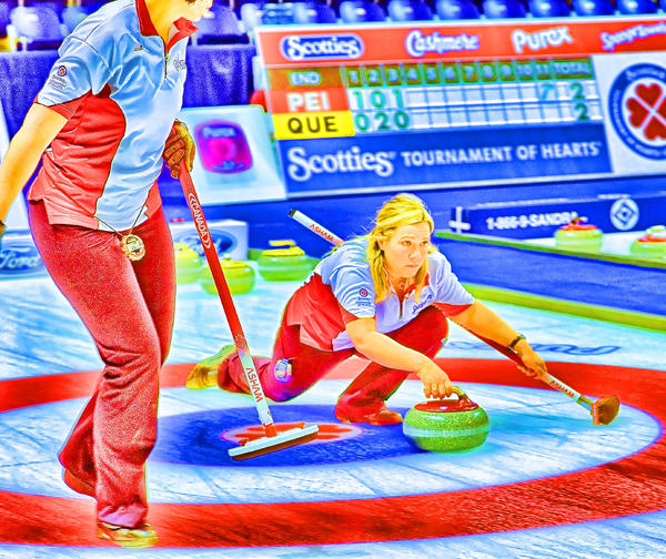 Curling Photograph - Cathy Color by Lawrence Christopher