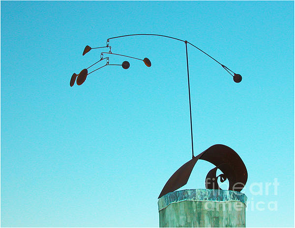 Alexander Calder Sculpture - Centered by Tommy  Urbans