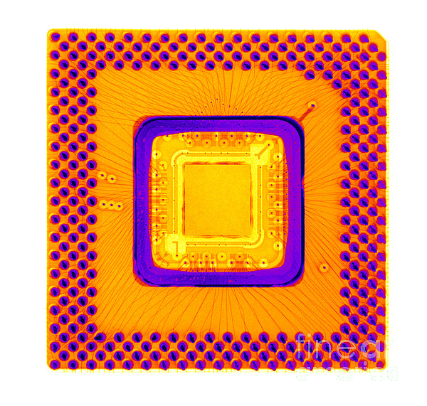 Xray Photograph - Central Processor by Ted Kinsman