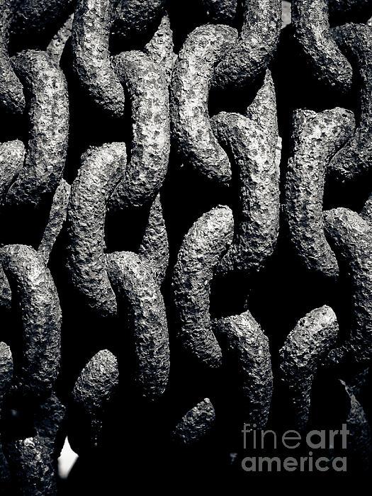 B&w Photograph - Chains by John Buxton