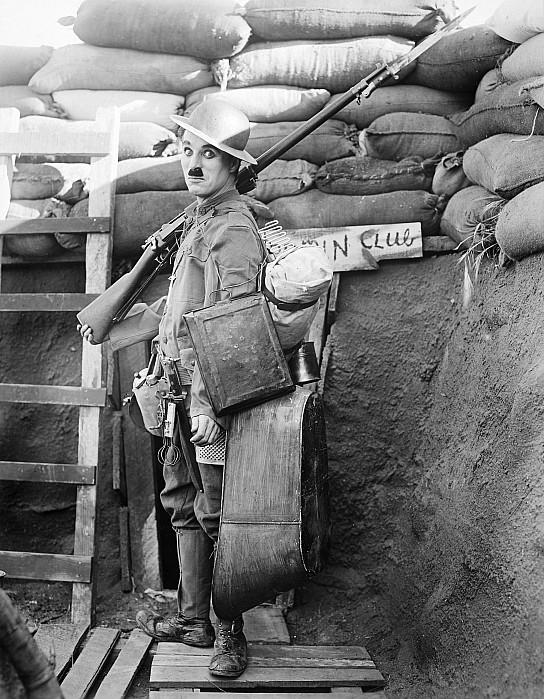 1918 Photograph - Chaplin: Shoulder Arms by Granger