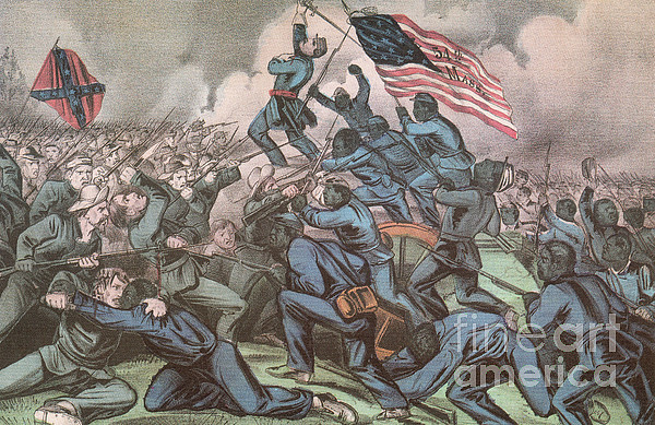 America Photograph - Charge Of The 54th Massachusetts by Photo Researchers