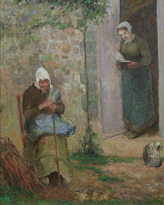 Charity Painting - Charity by Camille Pissarro