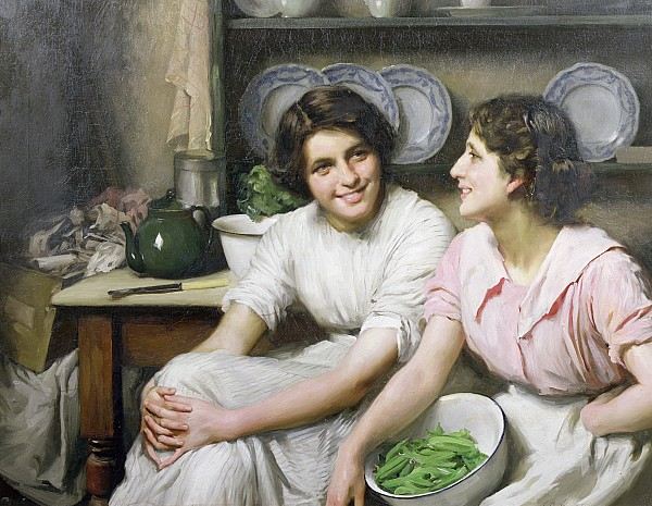 Chatterbox Painting - Chatterboxes by Thomas Benjamin Kennington