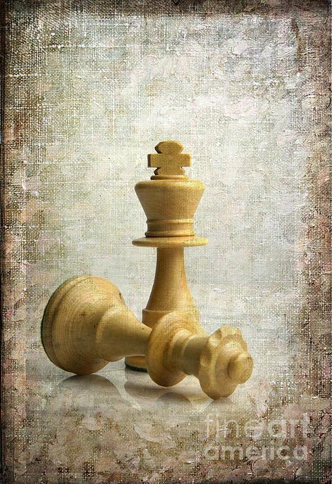 Chess Photograph - Chess Pieces by Bernard Jaubert