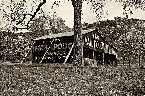 West Virginia Photograph - Chew Mail Pouch Sepia by Steve Harrington
