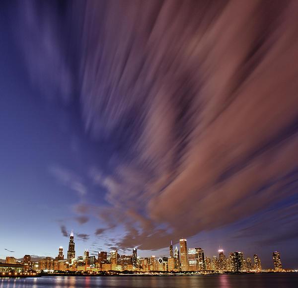 Chicago Photograph - Chicago Evening 3 by Donald Schwartz