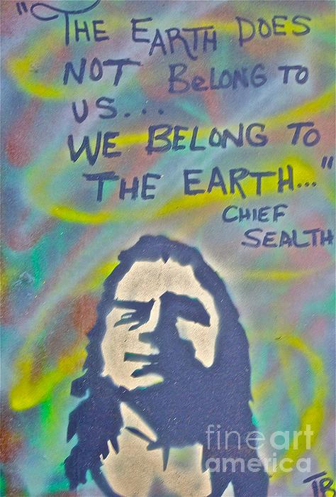 Chief Sealth Painting - Chief Sealth by Tony B Conscious