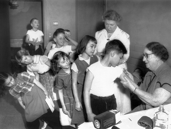 History Photograph - Children Inoculated Against Diphtheria by Everett