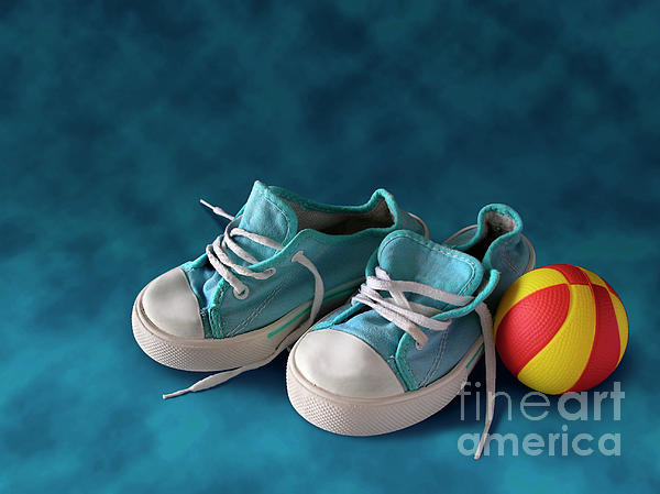 Child Photograph - Children Sneakers by Carlos Caetano