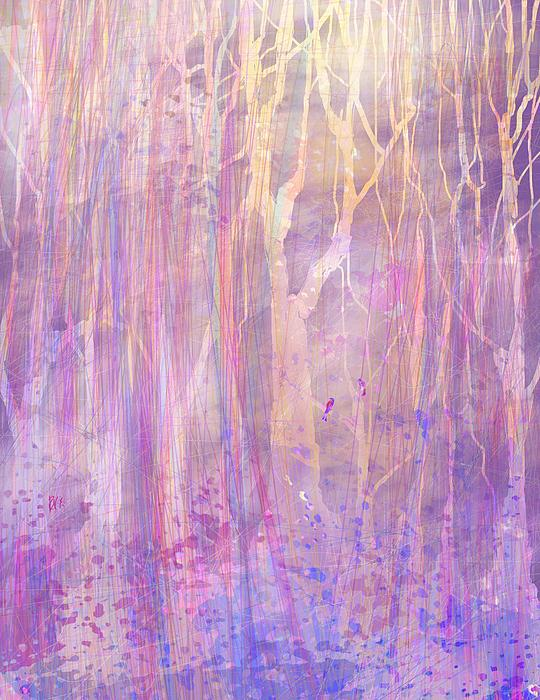 Abstract Digital Art - Chitchat by Rachel Christine Nowicki