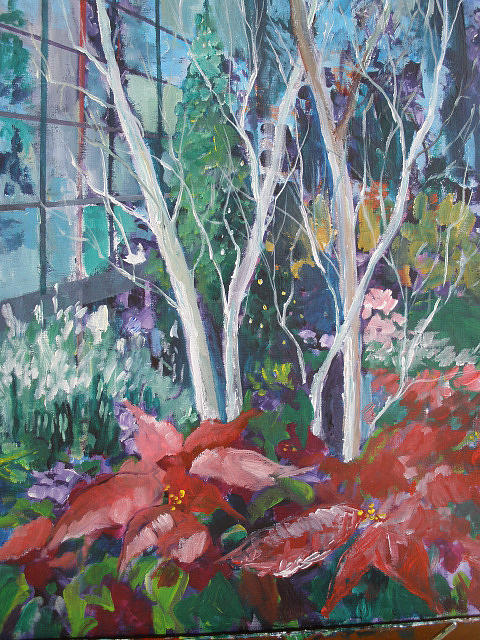 Christmas Tapestry - Textile - Christmas A Longwood Gardens by Carol Mangano