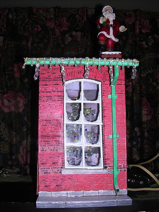 Shadowbox Sculpture - Christmas Memories by Gordon Wendling