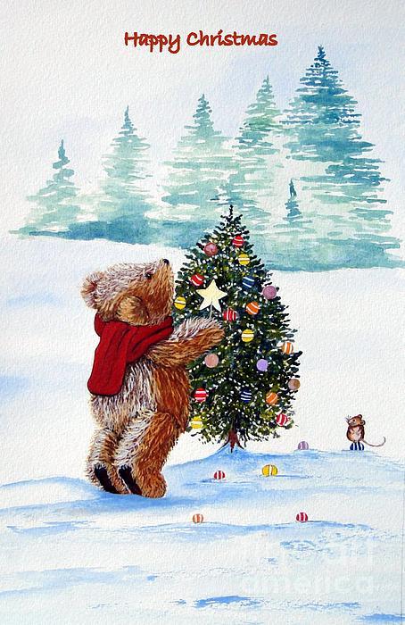 Christmas Star Painting by Gordon Lavender