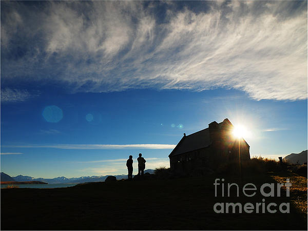 Sky Photograph - Church Of The Good Shepherd by Mc Mc