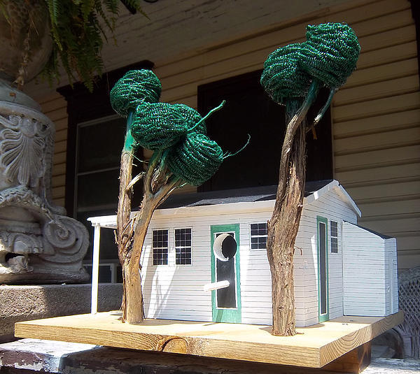 Bird House Sculpture - Cindy And Mikes Cottage by Gordon Wendling