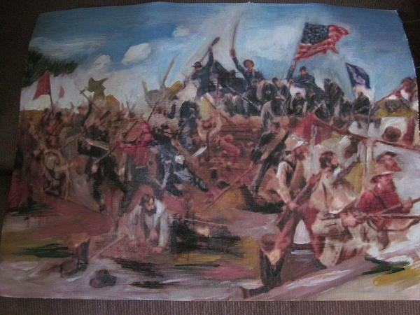 Civil War Painting by David Poyant