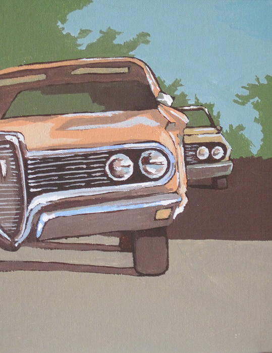 Classic Car Painting - Classic Cars by Sandy Tracey