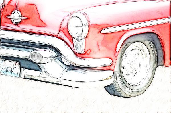 Car Digital Art - Classic by Tilly Williams