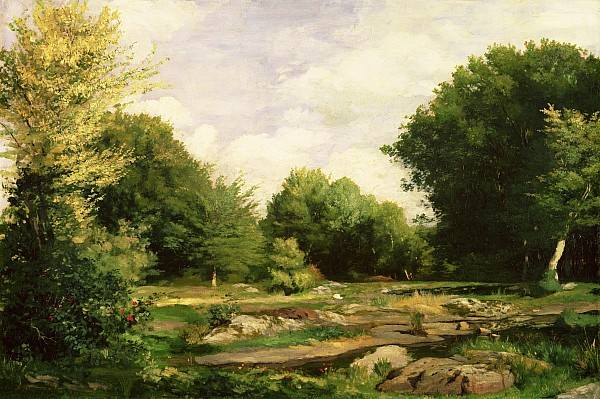 Clearing Painting - Clearing In The Woods by Pierre Auguste Renoir