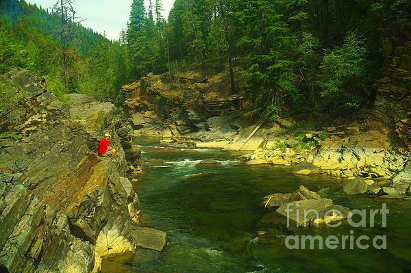 Yak River Photograph - Cliff Over The Yak River by Jeff Swan