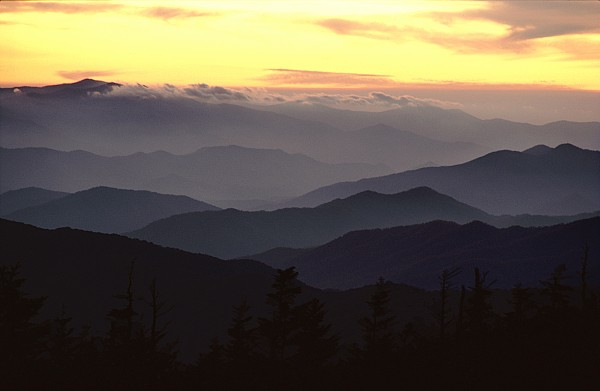 Twilight Photograph - Clingmans Dome Is The Highest Point by James P. Blair