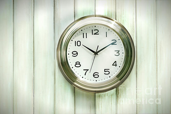 Analog Photograph - Clock On The Wall by Sandra Cunningham