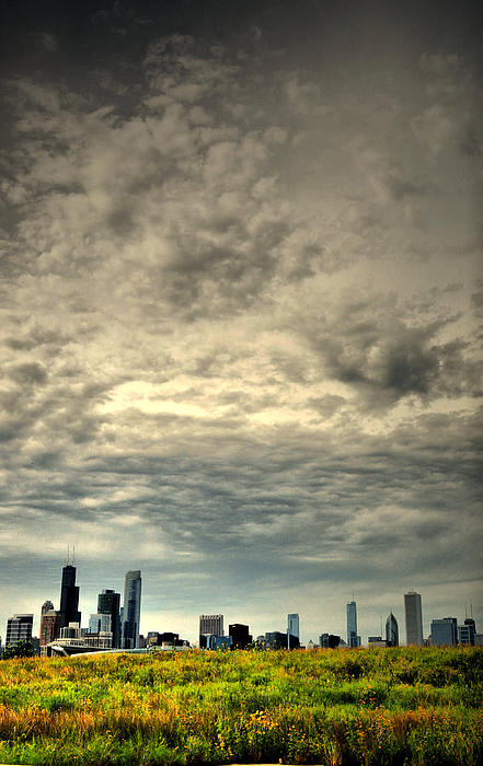 Chicago Photograph - Cloudy Chicago  by Emily Stauring