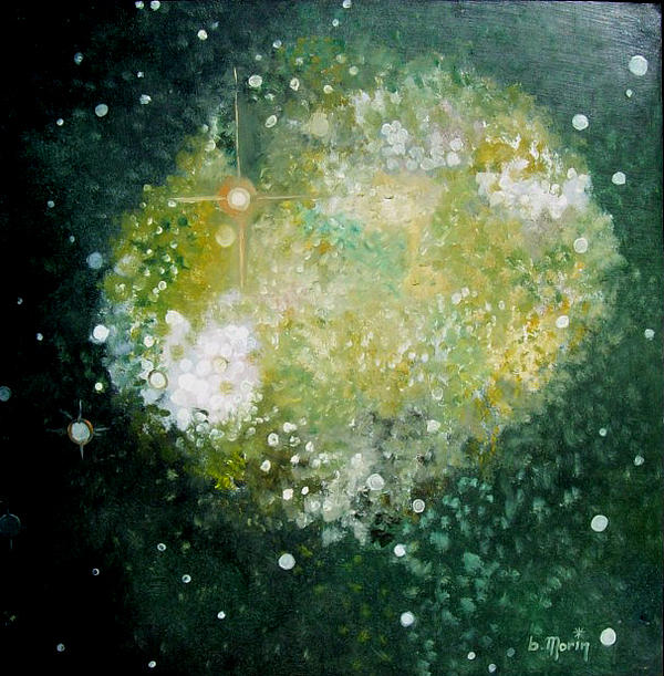 Stars Drawing - Cluster by Bernard MORIN