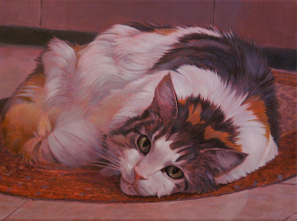 Cat Painting - Cody - A Face Ill Always Remember by Shawn Shea