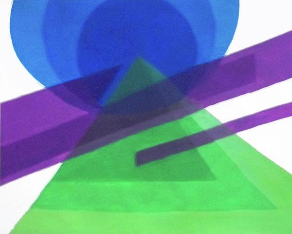 Color Composition Painting by Sarah Lonthier