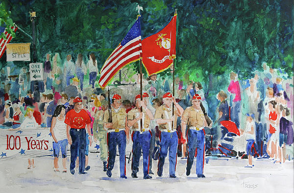 Watercolor Painting - Color Guard by William Tockes